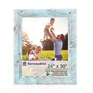 "BarnwoodUSA Farmhouse 24x30 Robins Egg Blue Picture Frame (1.5"" Molding), , large"