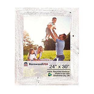 """BarnwoodUSA Farmhouse 24x30 White Wash Picture Frame (1.5"""" Molding), , large"""