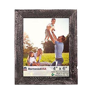 "BarnwoodUSA Farmhouse 4x6 Smoky Black Picture Frame (1.5"" Molding), , large"