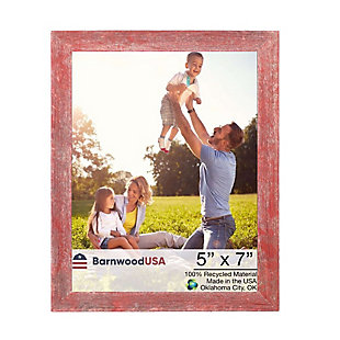 """BarnwoodUSA Farmhouse 5x7 Rustic Red Picture Frame (1.5"""" Molding), , large"""