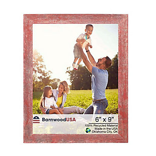 """BarnwoodUSA Farmhouse 6x9 Rustic Red Picture Frame (1.5"""" Molding), , large"""
