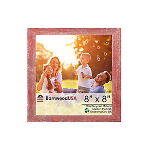 """BarnwoodUSA Farmhouse 8x8 Rustic Red Picture Frame (1.5"""" Molding), , large"""