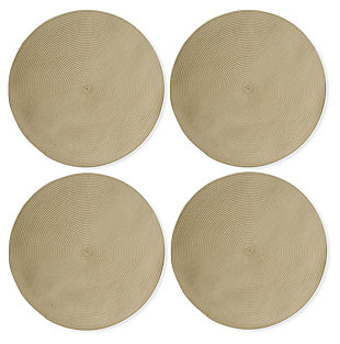 TAG Round Natural Placemats (Set of 4), , large