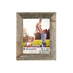 """BarnwoodUSA Farmhouse 9x12 Weathered Gray Picture Frame (1.5"""" Molding), , large"""