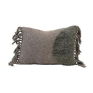 Creative Co-Op Bloomingville Cotton Blend Tufted Tasseled Lumbar Pillow, , large