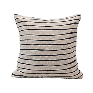 Creative Co-Op Bloomingville Striped Recycled Cotton Blend Pillow, , large
