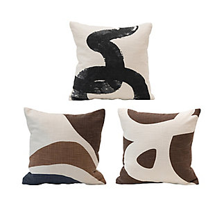 "Creative Co-Op Bloomingville 16"" Square Cotton PillowSet of 3, , large"