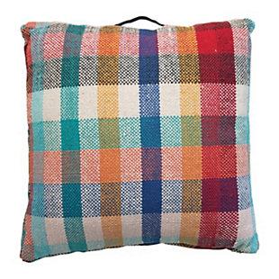 Creative Co-Op Plaid Woven Cotton Floor Pillow, , large