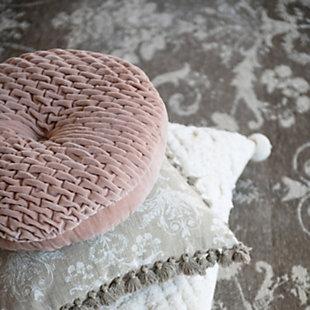 Creative Co-Op Woven Pattern Cotton Velvet Pillow, , rollover