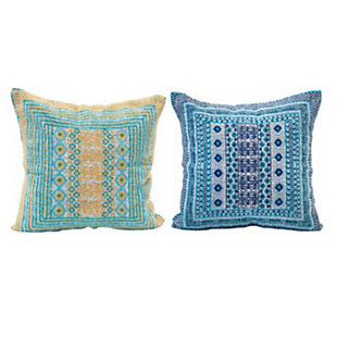 """Creative Co-Op Embroidered 16"""" Square Woven Cotton Pillow, , large"""