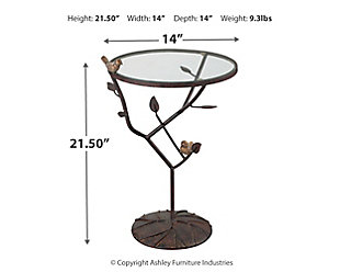 Birds On A Branch Accent Table, , large