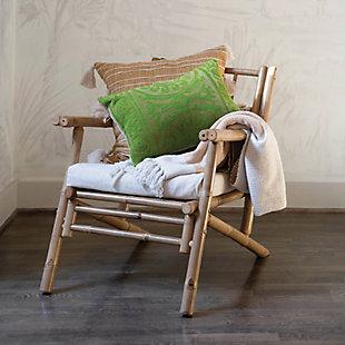 Creative Co-Op Embroidered Cotton Velvet Lumbar Pillow, , rollover