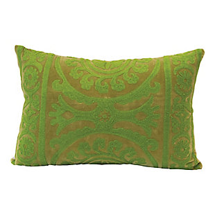 Creative Co-Op Embroidered Cotton Velvet Lumbar Pillow, , large