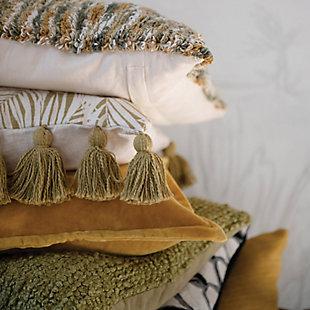 Creative Co-Op Dragonfly Cotton Velvet Pillow, , rollover