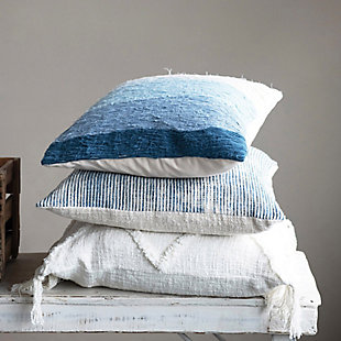 Creative Co-Op Wave Cotton Pillow, , rollover