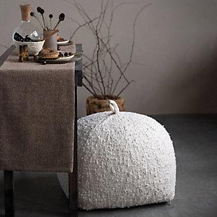 Creative Co-Op Woven Cotton Boucle Pouf, , rollover
