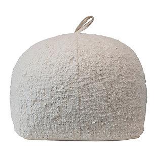Creative Co-Op Woven Cotton Boucle Pouf, , large