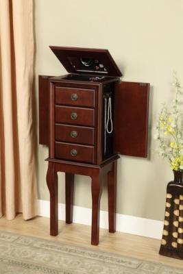 Linon Diamond Jewelry Armoire Ashley Furniture HomeStore