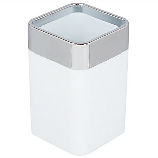 Home Basics Skylar 10 oz. ABS Plastic Tumbler, White, White, large
