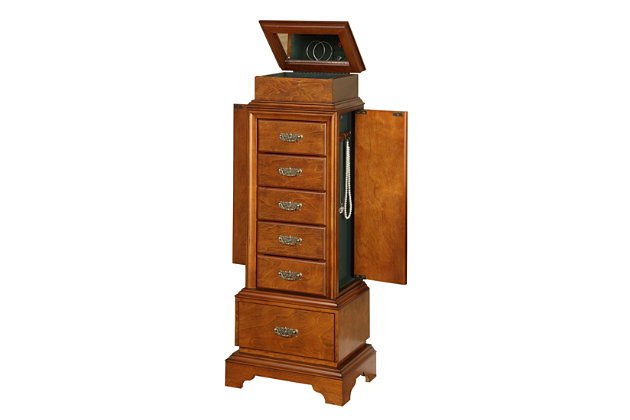 Linon Riley Jewelry Armoire, , large