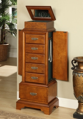 Linon Riley Jewelry Armoire Ashley Furniture HomeStore