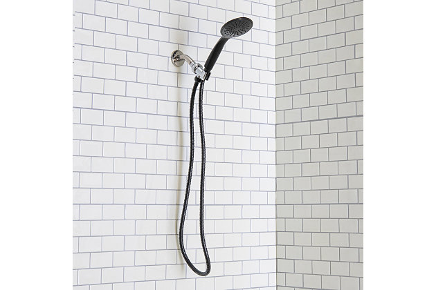 Home Basics Single Function Shower Massager, Black, , large