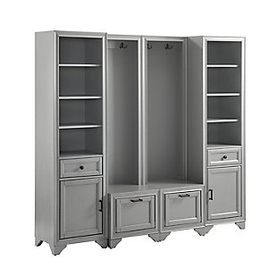 Crosley Tara 4-Piece Entryway Set, Distressed Gray, large
