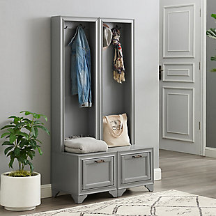 Crosley Tara  2-Piece Entryway Set, Distressed Gray, rollover