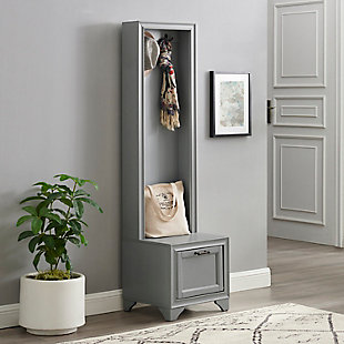 Crosley Tara Hall Tree, Distressed Gray, rollover