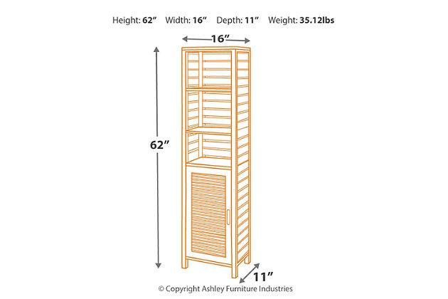 Linon Bracken Tall Cabinet, , large