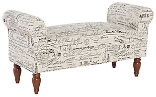 Lola Bench, White, large