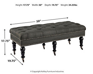 Linon Isabelle Bench, , large