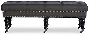 Miral Bench, Charcoal, large
