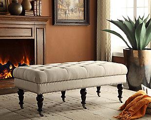 Miral Bench, White, large