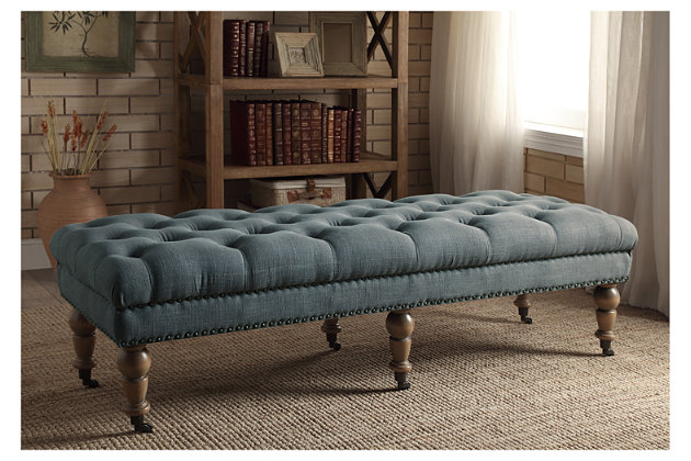 Miral Bed Bench, Gray, large