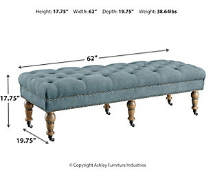 Linon Isabelle Bed Bench, , large