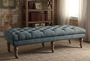 Linon Isabelle Bed Bench, , rollover