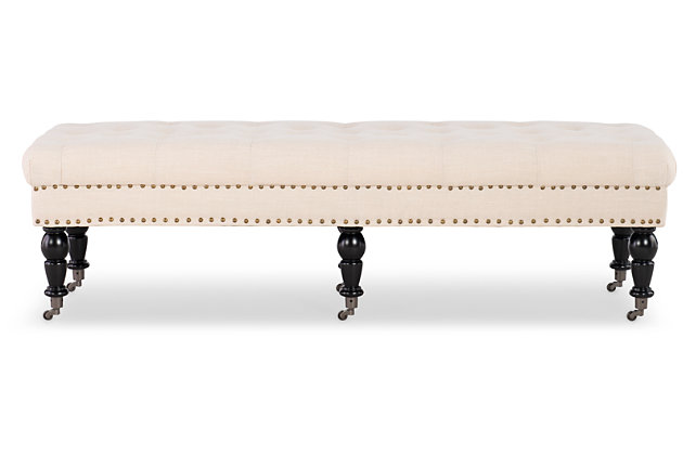 Miral Bed Bench, White, large