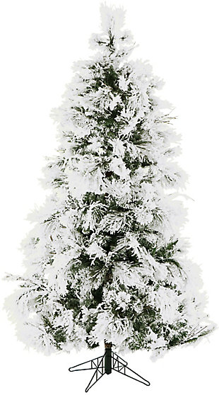 Fraser Hill 4-Ft.Snowy Pine Flocked Slim Christmas Tree, , large
