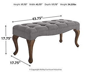 Linon Loire Bench, , large