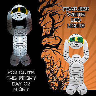 Fraser Hill 6.5-ft. Inflatable Headless Mummy with Arm Motion and Lights, , large