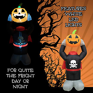 Fraser Hill 6-ft. Headless Pumpkin Inflatable with Arm Motion and Lights, , large