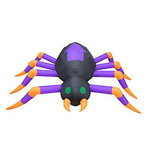Fraser Hill 8-ft. Inflatable Spider with Lights, , large