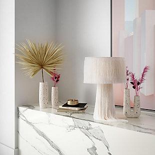 Terrazzo Medium Skinny White Vase, , rollover