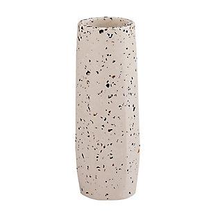 Terrazzo Small Skinny White Vase, , large