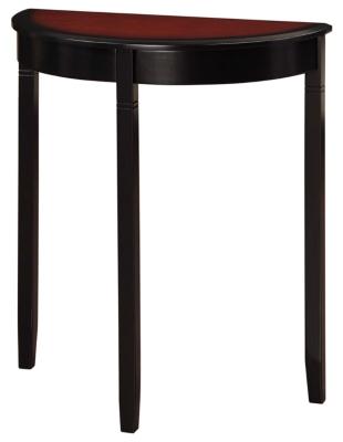 Image of Linon Camden Demi Lune Console Table, Cherry