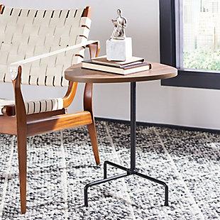 Safavieh Berlin Tripod Side Table, Brown, rollover