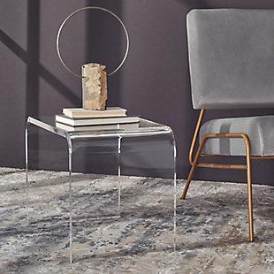 Safavieh Upton Acrylic Side Table, , large