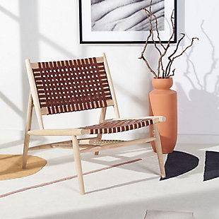 Safavieh Soleil Accent Chair, Natural/Cognac, rollover