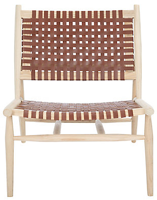 Safavieh Soleil Accent Chair, Natural/Cognac, large